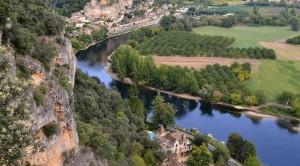 Camping aan rivier in Dordogne